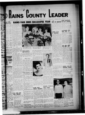 Primary view of object titled 'Rains County Leader (Emory, Tex.), Vol. 80, No. 14, Ed. 1 Thursday, September 21, 1967'.