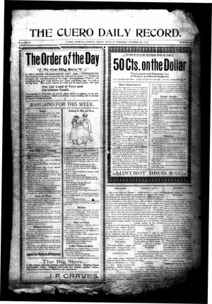 Primary view of object titled 'The Cuero Daily Record. (Cuero, Tex.), Vol. 9, No. 83, Ed. 1 Sunday, October 30, 1898'.