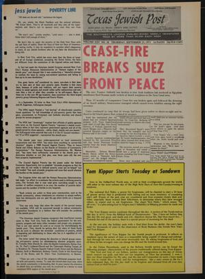 Primary view of object titled 'Texas Jewish Post (Fort Worth, Tex.), Vol. 25, No. 38, Ed. 1 Thursday, September 23, 1971'.
