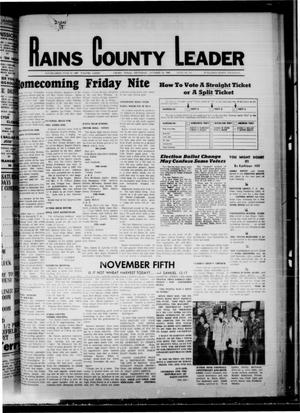 Primary view of object titled 'Rains County Leader (Emory, Tex.), Vol. 81, No. 19, Ed. 1 Thursday, October 31, 1968'.