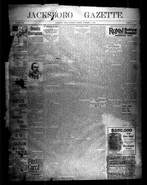 Primary view of object titled 'Jacksboro Gazette. (Jacksboro, Tex.), Vol. 17, No. 23, Ed. 1 Thursday, November 5, 1896'.