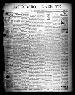 Primary view of object titled 'Jacksboro Gazette. (Jacksboro, Tex.), Vol. 18, No. 28, Ed. 1 Thursday, December 9, 1897'.