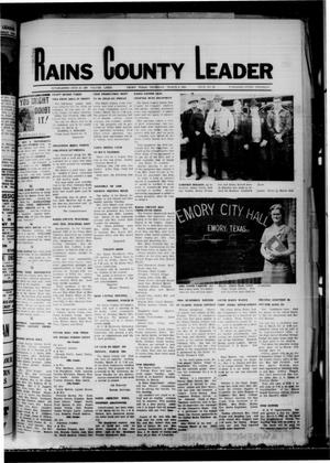 Primary view of object titled 'Rains County Leader (Emory, Tex.), Vol. 81, No. 36, Ed. 1 Thursday, March 6, 1969'.