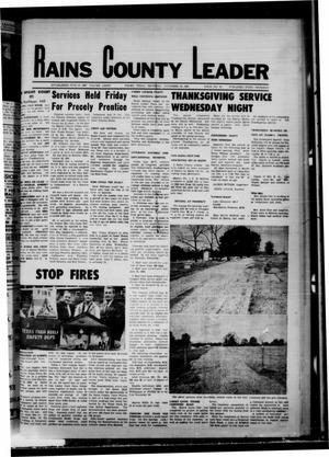 Primary view of object titled 'Rains County Leader (Emory, Tex.), Vol. 81, No. 23, Ed. 1 Thursday, November 28, 1968'.