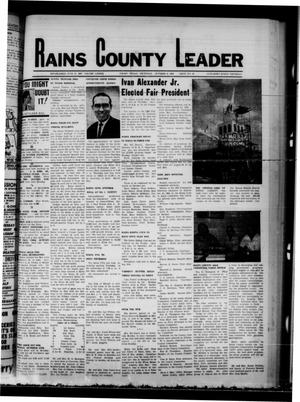 Primary view of object titled 'Rains County Leader (Emory, Tex.), Vol. 82, No. 19, Ed. 1 Thursday, October 9, 1969'.