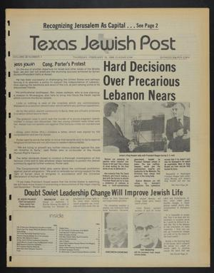 Primary view of object titled 'Texas Jewish Post (Fort Worth, Tex.), Vol. 38, No. 7, Ed. 1 Thursday, February 16, 1984'.