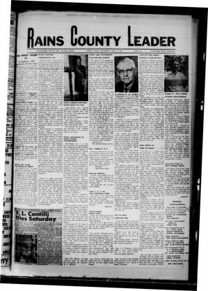 Primary view of object titled 'Rains County Leader (Emory, Tex.), Vol. 82, No. [36], Ed. 1 Thursday, February 12, 1970'.
