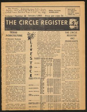 Primary view of object titled 'The Circle Register (Follett, Tex.), Vol. 1, No. 38, Ed. 1 Tuesday, January 1, 1963'.
