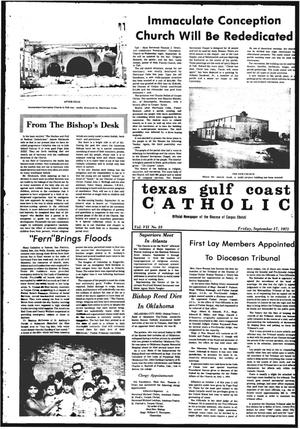 Primary view of object titled 'Texas Gulf Coast Catholic (Corpus Christi, Tex.), Vol. 8, No. 23, Ed. 1 Friday, September 17, 1971'.