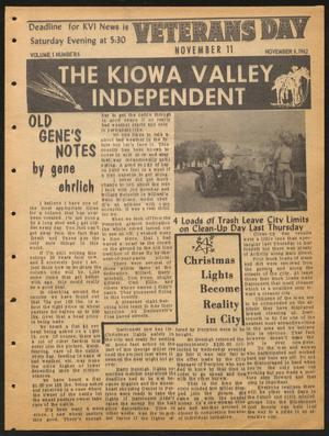 Primary view of object titled 'The Kiowa Valley Independent (Darrouzett, Tex.), Vol. 1, No. 6, Ed. 1 Tuesday, November 6, 1962'.