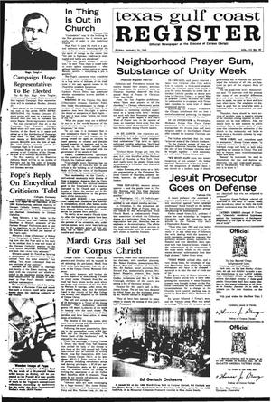 Primary view of object titled 'Texas Gulf Coast Register (Corpus Christi, Tex.), Vol. 3, No. 40, Ed. 1 Friday, January 24, 1969'.