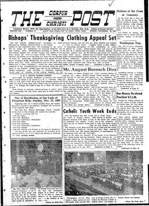 Primary view of object titled 'The Corpus Christi Post (Corpus Christi, Tex.), Vol. 8, No. 38, Ed. 1 Sunday, November 13, 1960'.