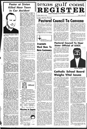 Primary view of object titled 'Texas Gulf Coast Register (Corpus Christi, Tex.), Vol. 3, No. 48, Ed. 1 Friday, March 21, 1969'.