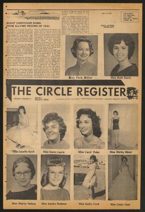 Primary view of object titled 'The Circle Register (Follett, Tex.), Vol. 1, No. 15, Ed. 1 Tuesday, July 24, 1962'.
