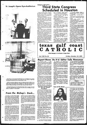 Primary view of object titled 'Texas Gulf Coast Catholic (Corpus Christi, Tex.), Vol. 3, No. 25, Ed. 1 Friday, October 27, 1972'.
