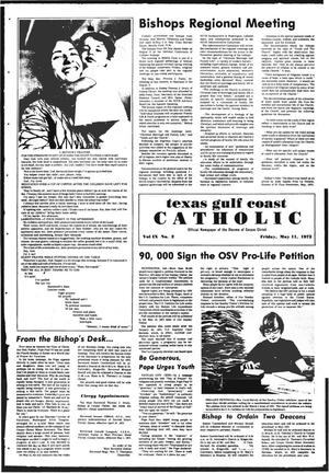 Primary view of object titled 'Texas Gulf Coast Catholic (Corpus Christi, Tex.), Vol. 9, No. 2, Ed. 1 Friday, May 11, 1973'.