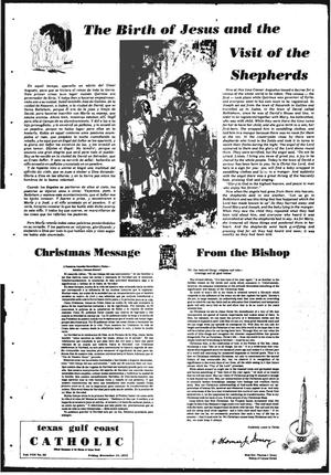 Primary view of object titled 'Texas Gulf Coast Catholic (Corpus Christi, Tex.), Vol. 3, No. 32, Ed. 1 Friday, December 15, 1972'.