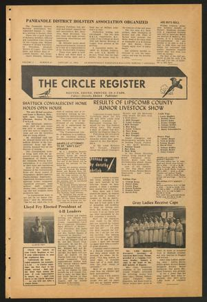 Primary view of object titled 'The Circle Register (Follett, Tex.), Vol. 2, No. 41, Ed. 1 Tuesday, January 21, 1964'.
