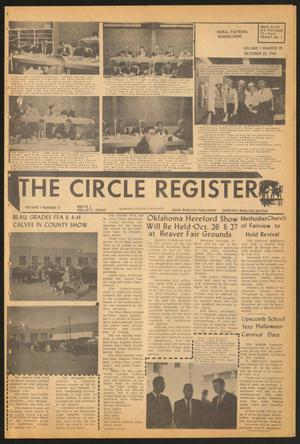 Primary view of object titled 'The Circle Register (Follett, Tex.), Vol. 1, No. 28, Ed. 1 Tuesday, October 23, 1962'.