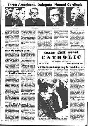 Primary view of object titled 'Texas Gulf Coast Catholic (Corpus Christi, Tex.), Vol. 3, No. 39, Ed. 1 Friday, February 9, 1973'.