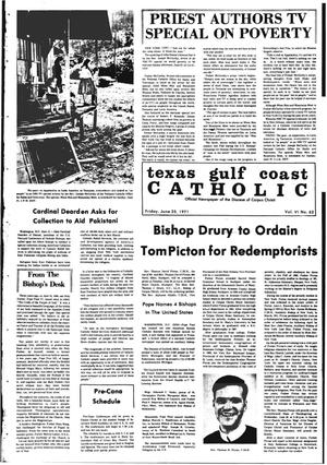 Primary view of object titled 'Texas Gulf Coast Catholic (Corpus Christi, Tex.), Vol. 6, No. 62, Ed. 1 Friday, June 25, 1971'.