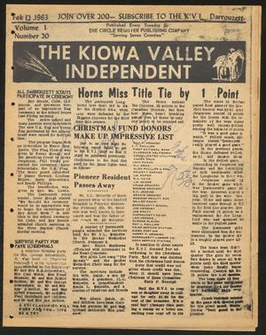 Primary view of object titled 'The Kiowa Valley Independent (Darrouzett, Tex.), Vol. 1, No. 20, Ed. 1 Tuesday, February 12, 1963'.