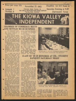Primary view of object titled 'The Kiowa Valley Independent (Darrouzett, Tex.), Vol. 1, No. 9, Ed. 1 Tuesday, November 27, 1962'.
