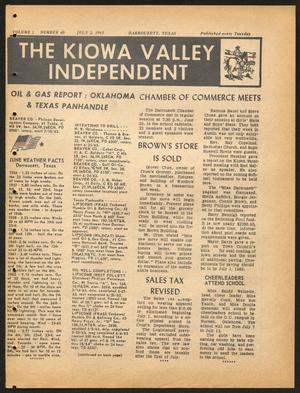 Primary view of object titled 'The Kiowa Valley Independent (Darrouzett, Tex.), Vol. 1, No. 40, Ed. 1 Tuesday, July 2, 1963'.