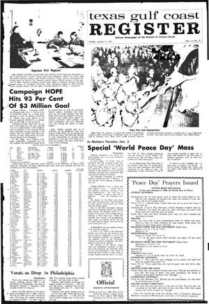 Primary view of object titled 'Texas Gulf Coast Register (Corpus Christi, Tex.), Vol. 3, No. 37, Ed. 1 Friday, January 3, 1969'.