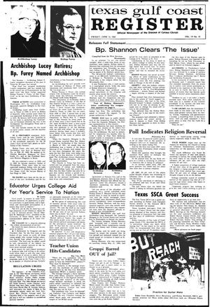 Primary view of object titled 'Texas Gulf Coast Register (Corpus Christi, Tex.), Vol. 4, No. 10, Ed. 1 Friday, June 13, 1969'.