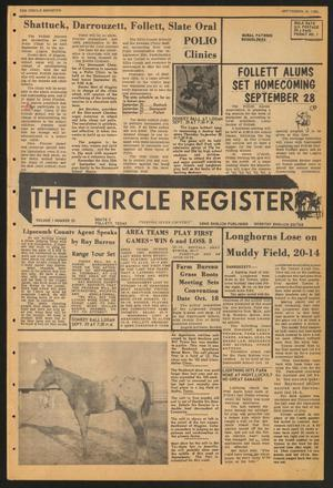 The Circle Register (Follett, Tex.), Vol. 1, No. 23, Ed. 1 Tuesday, September 18, 1962