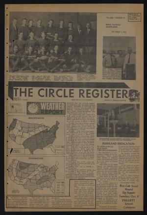 Primary view of object titled 'The Circle Register (Follett, Tex.), Vol. 1, No. 26, Ed. 1 Tuesday, October 9, 1962'.