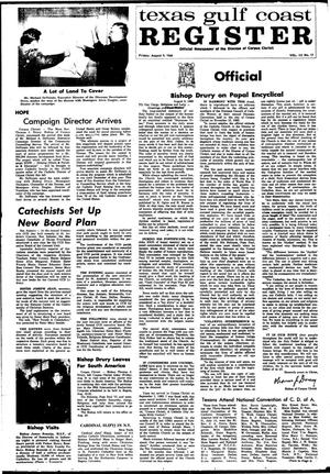 Primary view of object titled 'Texas Gulf Coast Register (Corpus Christi, Tex.), Vol. 3, No. 17, Ed. 1 Friday, August 9, 1968'.