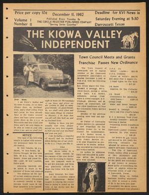 Primary view of object titled 'The Kiowa Valley Independent (Darrouzett, Tex.), Vol. 1, No. 11, Ed. 1 Tuesday, December 11, 1962'.