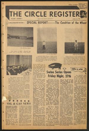 The Circle Register (Follett, Tex.), Vol. 1, No. 2, Ed. 1 Tuesday, April 24, 1962
