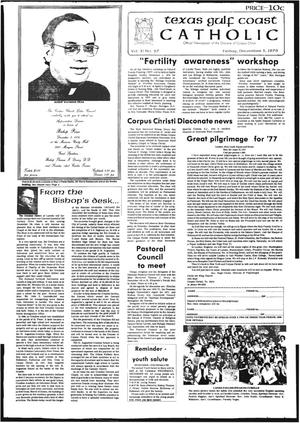 Primary view of object titled 'Texas Gulf Coast Catholic (Corpus Christi, Tex.), Vol. 11, No. 27, Ed. 1 Friday, December 3, 1976'.