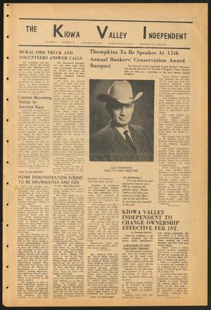 Primary view of object titled 'The Kiowa Valley Independent (Darrouzett, Tex.), Vol. 2, No. 18, Ed. 1 Tuesday, January 28, 1964'.