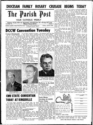 Primary view of object titled 'The Parish Post (Corpus Christi, Tex.), Vol. 7, No. 7, Ed. 1 Sunday, April 19, 1959'.