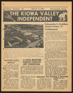 Primary view of object titled 'The Kiowa Valley Independent (Darrouzett, Tex.), Vol. 1, No. 24, Ed. 1 Tuesday, March 12, 1963'.