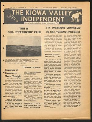 Primary view of object titled 'The Kiowa Valley Independent (Darrouzett, Tex.), Vol. 1, No. 34, Ed. 1 Tuesday, May 21, 1963'.