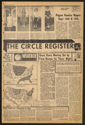 The Circle Register (Follett, Tex.), Vol. 1, No. 22, Ed. 1 Tuesday, September 11, 1962