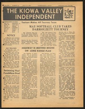 The Kiowa Valley Independent (Darrouzett, Tex.), Vol. 1, No. 42, Ed. 1 Tuesday, July 16, 1963