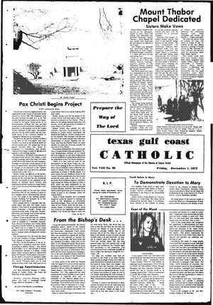 Primary view of object titled 'Texas Gulf Coast Catholic (Corpus Christi, Tex.), Vol. 3, No. 30, Ed. 1 Friday, December 1, 1972'.