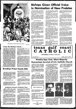 Primary view of object titled 'Texas Gulf Coast Catholic (Corpus Christi, Tex.), Vol. 3, No. 3, Ed. 1 Friday, May 19, 1972'.