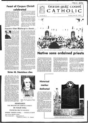 Primary view of object titled 'Texas Gulf Coast Catholic (Corpus Christi, Tex.), Vol. 11, No. 5, Ed. 1 Friday, June 25, 1976'.