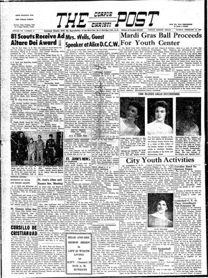 Primary view of object titled 'The Corpus Christi Post (Corpus Christi, Tex.), Vol. 7, No. 51, Ed. 1 Sunday, February 14, 1960'.