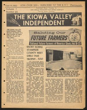 Primary view of object titled 'The Kiowa Valley Independent (Darrouzett, Tex.), Vol. 1, No. 21, Ed. 1 Tuesday, February 19, 1963'.