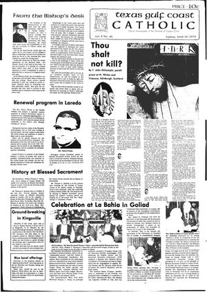 Primary view of object titled 'Texas Gulf Coast Catholic (Corpus Christi, Tex.), Vol. 10, No. 45, Ed. 1 Friday, April 16, 1976'.