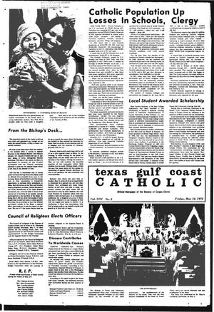 Primary view of object titled 'Texas Gulf Coast Catholic (Corpus Christi, Tex.), Vol. 3, No. 2, Ed. 1 Friday, May 12, 1972'.