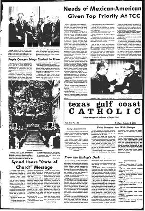 Primary view of object titled 'Texas Gulf Coast Catholic (Corpus Christi, Tex.), Vol. 8, No. 26, Ed. 1 Friday, October 8, 1971'.